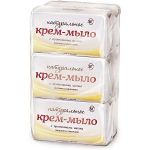 Крем-мыло Невская Косметика Натуральное с протеинами шелка 90 г, 6 шт
