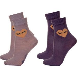 Носки , 2 пары Janus. Цвет: лиловый