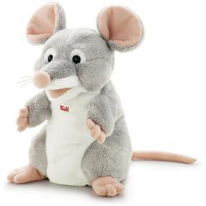 Мягкая игрушка на руку  Мышка, 25 см Trudi. Цвет: серый
