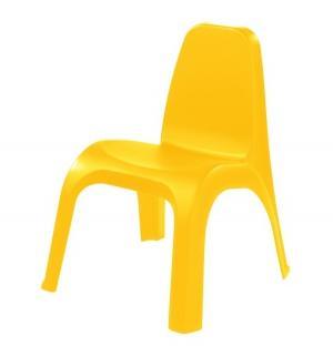 Детский стул пластиковый, цвет:желтый