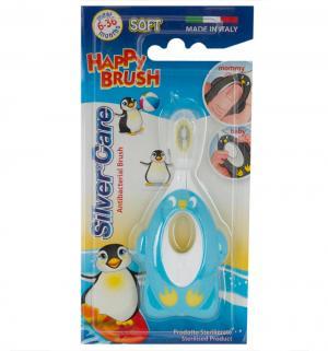Зубная щетка  Happy Brush мягкая, цвет: голубой Silver Care