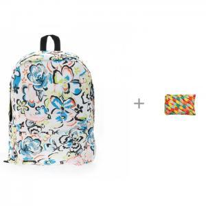 Рюкзак Цветы с пеналом-сумочкой Zipit Colors Jumbo Pouch 3D Bags
