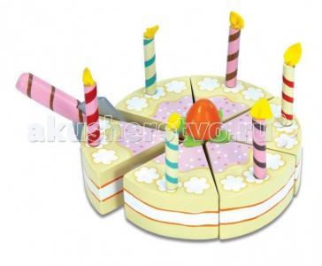 Деревянная игрушка  Ванильный торт со свечками LeToyVan