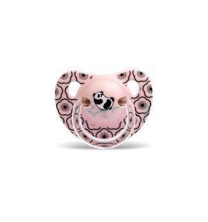 Набор пустышек  Панда силикон, с 18 мес, цвет: розовый Suavinex