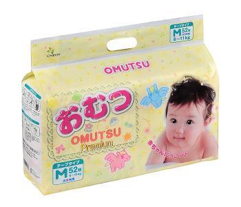 Подгузники детские M (6-11 кг) 52 шт. Omutsu