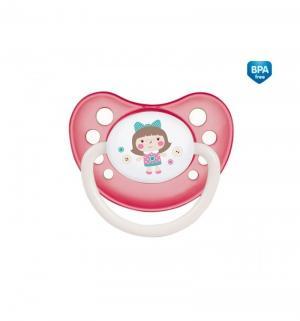 Пустышка  Toys анатомическая силикон, с рождения, цвет: розовый Canpol