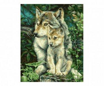 Картина по номерам Мама-волчица 30х24 см Schipper