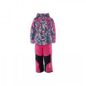 Компект: куртка и полукомбинезон для девочки atPlay!. Цвет: розовый