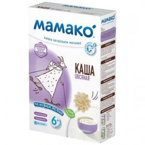 Каша  молочная Овсяная на козьем молоке с 6 месяцев 200 г Мамако