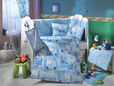 Комплект в кроватку  Little Sheep 100х150 см (10 предметов) Hobby Home Collection