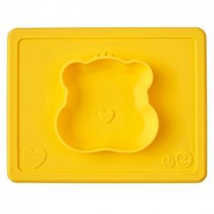 Силиконовая тарелка-плейсмат Happy Bowl Care Bear Edition Ezpz