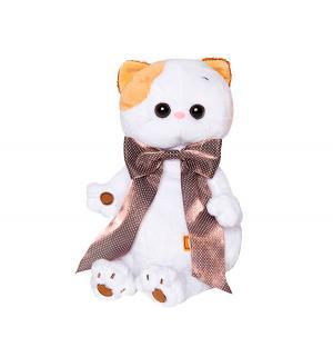 Мягкая игрушка  Ли-Ли с атласным коричневым бантом 24 см Basik&Ko