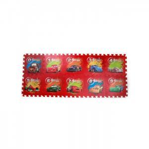 Игровой коврик  Тачки (Disney) с вырезанными цифрами коврик-пазл Играем вместе