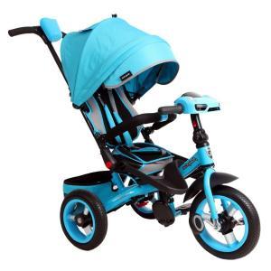 Трехколесный велосипед  Leader 360° 12x10 AIR Car, цвет: бирюзовый Moby Kids