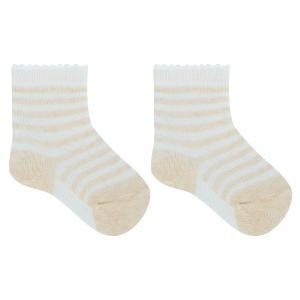 Носки  Полоска, цвет: бежевый/белый Crockid