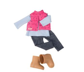 Комплект одежды с дутой жилеткой и джеггинсами Our Generation Dolls