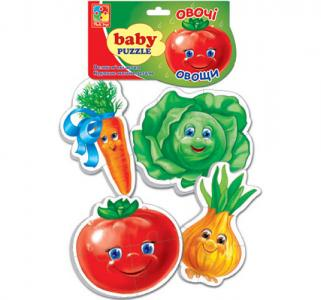 Пазлы мягкие  Овощи Vladi Toys