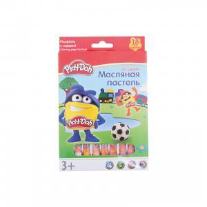Play-Doh Масляная пастель 18 цветов в картонной коробке + 2 раскраски Размер 19,8 х 13 1,8 см. Kinderline