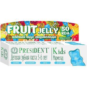Зубная паста President Kids Fruit Jelly 3-6 лет, 50 мл