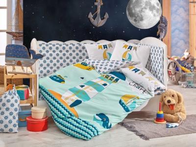 Комплект в кроватку  Baby Sailor 100х150 см (10 предметов) Hobby Home Collection