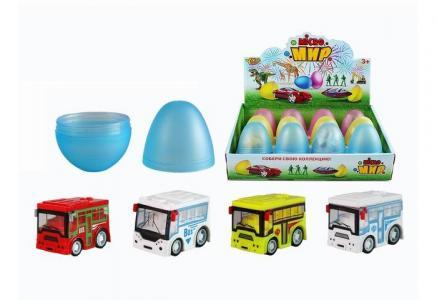 Набор Машинка Автобус в яйце M0274 Yako
