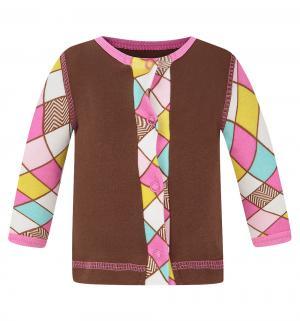 Кофта  Кашемир, цвет: коричневый/розовый Трия
