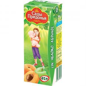 Сок  яблоко-абрикос, 200 мл Сады Придонья