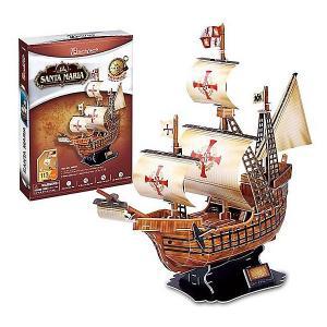 3D пазл  Корабль Санта Мария CubicFun. Цвет: разноцветный