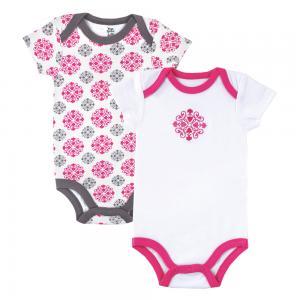 Комплект боди 2 шт  Yoga, цвет: розовый Hudson Baby