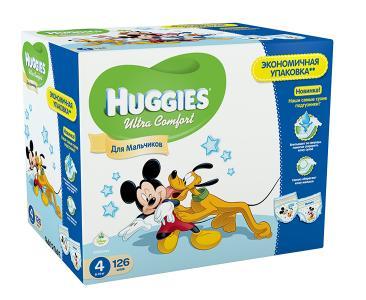 Подгузники Ultra Comfort Disney Box для мальчиков 4 (8-14 кг) 126 шт. Huggies
