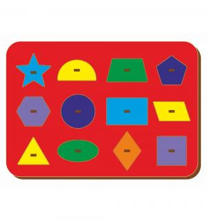 Рамка-вкладыш  Монтессори геометрия 3 Woodland