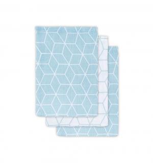 Комплект полотенце 3 шт , цвет: серый/зеленый Jollein