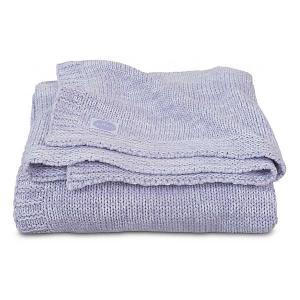 Вязаный плед Jollein Melange knit soft lilac, 75x100 см. Цвет: фиолетовый
