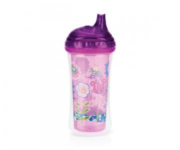 Термопоильник  No-Spill Hard Spout Cup с твердым носиком, 9 месяцев, цвет: розовый Nuby