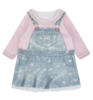 Платье  Fashion Jeans, цвет: синий/розовый Папитто