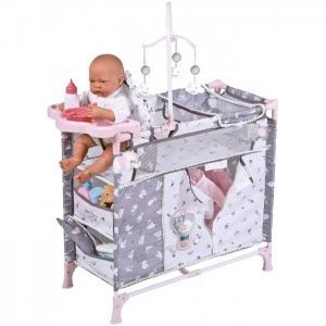 Манеж-игровой центр для куклы с аксессуарами Скай 70 см DeCuevas
