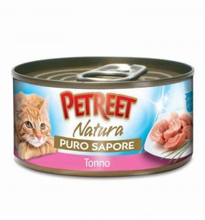 Влажный корм  для взрослых кошек, кусочки тунца в рыбном супе, 70г Petreet