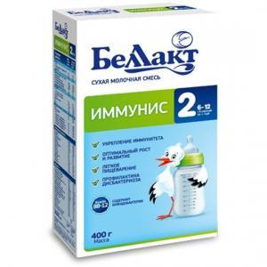 Молочная смесь  Иммунис 2 с 6 месяцев, 400 г Беллакт
