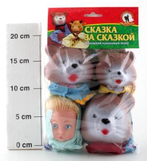 Кукольный театр  Три Медведя (4 персонажа) Русский Стиль