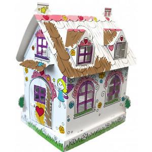 Сборная раскраска  Кукольный домик феи CartonHouse. Цвет: белый