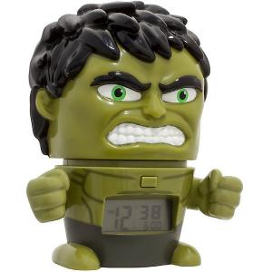Будильник Kids Time BulbBotz Marvel «Халк» минифигура Детское время. Цвет: зеленый