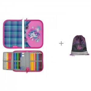 Пенал с наполнением Evo Unicorn и Мешок для обуви Rainbow Butterfly Magtaller