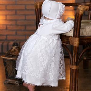 Крестильное платье и чепчик 11241 Little People