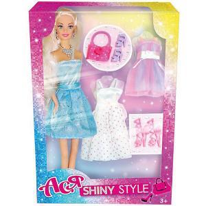 Кукла  Блестящий выход Ася, 28 см Toys Lab. Цвет: голубой