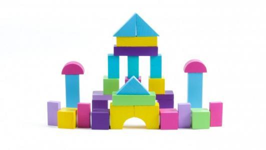 Деревянная игрушка  Конструктор Краски дня Вечер 105 деталей Томик