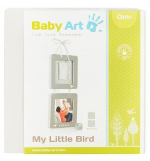 Рамка двойная  Мой птенчик серая Baby Art