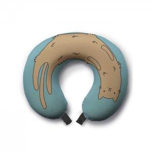 Дорожная (туристическая) подушка для шеи Отдыхающий кот Ambesonne