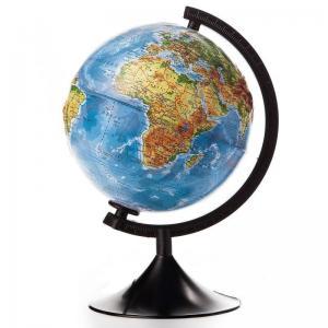 Глобус  физический рельефный210мм Globen