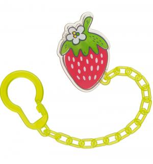 Держатель  Soother holder, цвет: lime Happy Baby