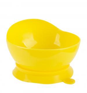 Тарелка  Just на присоске, цвет: желтый Lubby